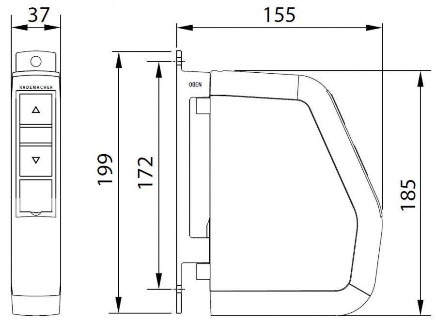 rademacher rollotron schwenkwickler standard duofern 2510 rollotron abels rollladen und. Black Bedroom Furniture Sets. Home Design Ideas