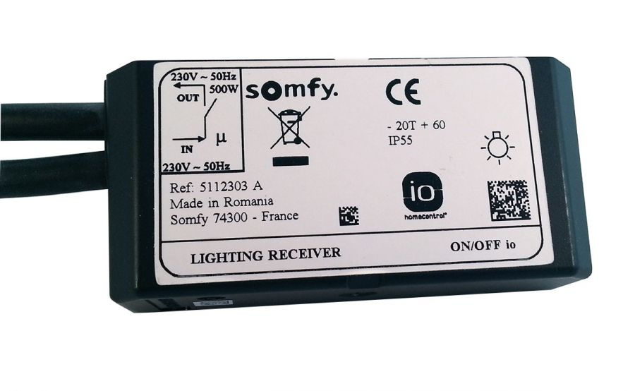 somfy lighting receiver on off io 1822423 io. Black Bedroom Furniture Sets. Home Design Ideas