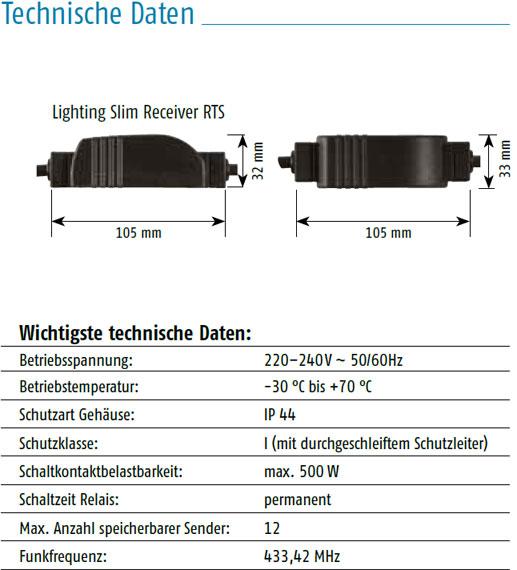 Somfy slim receiver rts plug